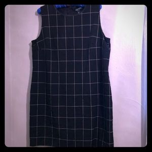 RL black dress with tan pin lines